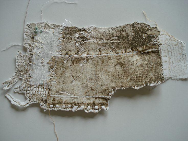 Sue Walker | collagraph print + stitch