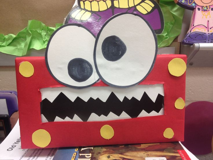 Monster decorations (tissue boxes)