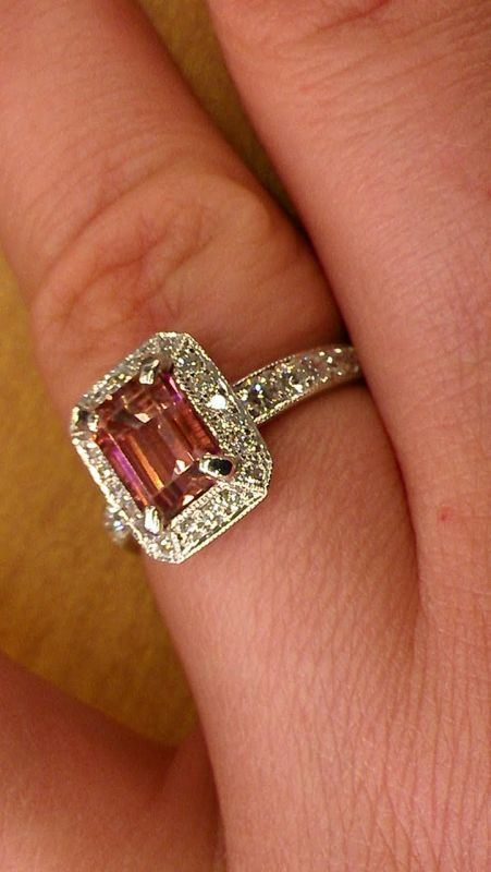 Simple emerald cut pink tourmaline Uniquely Colored E Rings Pictures PLEASE