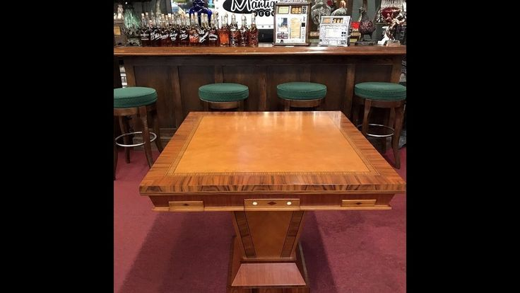 Custom Poker Casino Cards Gaming Table for $2,250 by The Mantiques Network