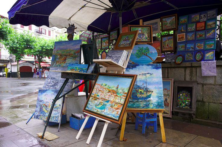 Local artist stall - Saint-Jean de Luz