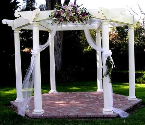 Outdoor wedding decorations fresh summer wedding design for Outdoor wedding gazebo decorating ideas