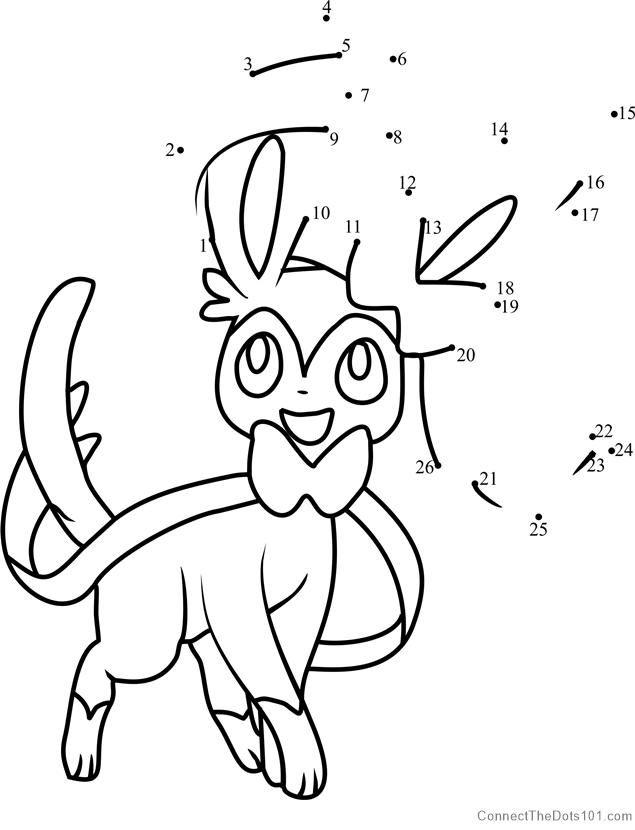Pokemon Sylveon Dot To Dot Santa Coloring Pages Pokemon Coloring Pages Pokemon