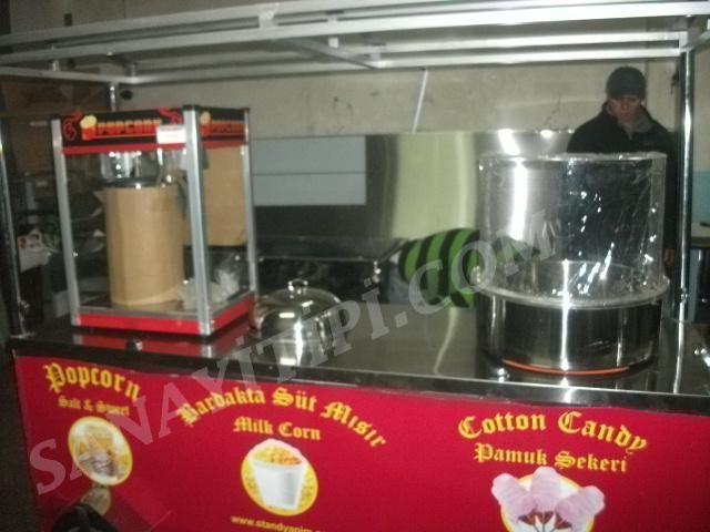 Popcorn +Bardakta Mısır + Pamuk Şeker » - Sanayi tipi