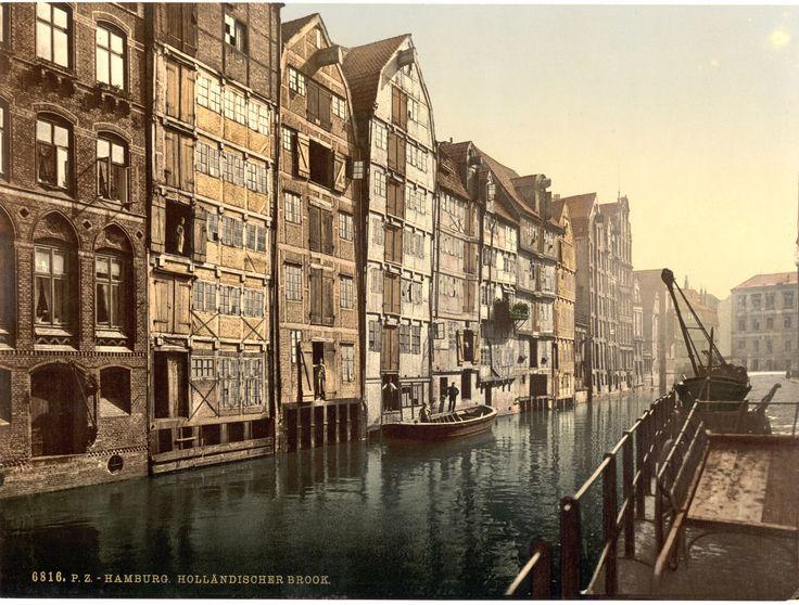 Und in der Hamburger Speicherstadt: | Diese Fotos zeigen Dir, wie Deutschland zu einer Zeit ohne Autos aussah