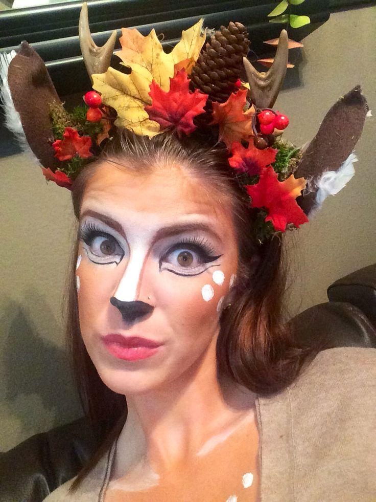 Deer makeup from Halloween