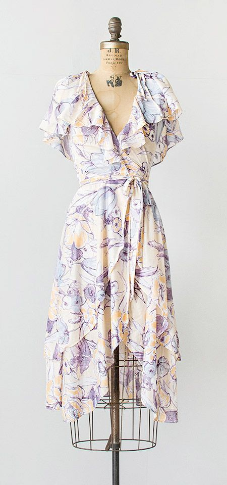 midsummer gale dress | vintage 1970s floral dress