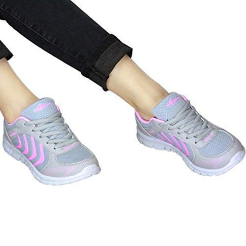 Oferta: 14.58€. Comprar Ofertas de Tefamore Zapatillas de deporte Zapatos deportivos de los planos atléticas ocasionales de la malla respirable del verano de la barato. ¡Mira las ofertas!