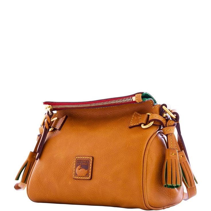 Supple Florentine leather has the look and feel of fine saddlery and, like saddle leather, it develops a rich patina over time. This bag is a favorite casual carry-all that's hands-free and versatile, perfect for work or errands.