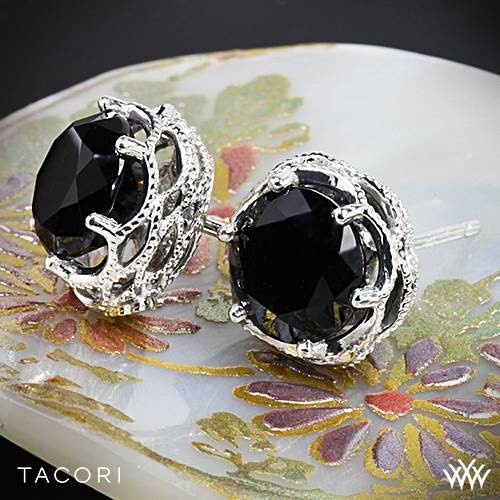 See best jewelry for Cool Winters at: http://www.truth-is-beauty.com/true-winter.html }}  Tacori Black Lightning Onyx Earrings.