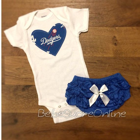 LA Dodgers Girls Outfit by BebeSucreOnline on Etsy