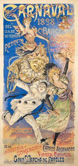 Labarta, Lluis poster: Carnaval Barcelona 1898