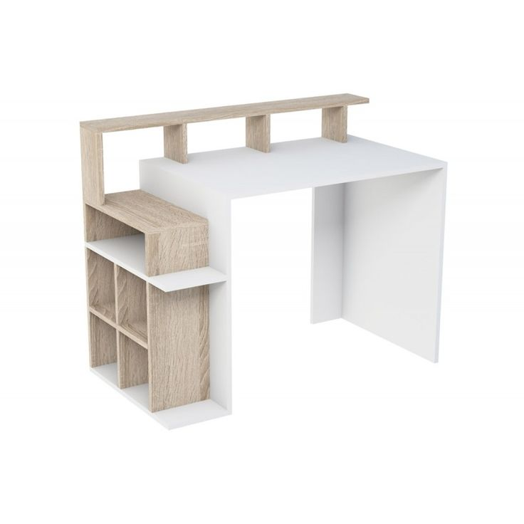 Office Fiorenza with bookshelf white-sonoma 60x112x91