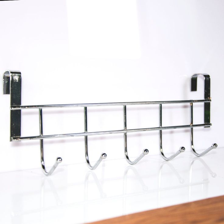 実用新しい5フックホーム浴室台所帽子タオルハンガーオーバードアぶら下げラックホルダー