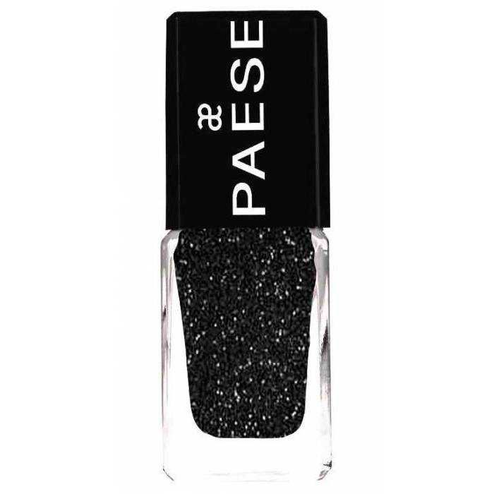 PAESE COSMETICS: Quickly drying andlong lasting HIGH GLOSS formula makespolish lasts up to seven days without any extra hardening products. It givesperfect coverage and satisfying effects after one application.  Safe to use, as it does not include toluene orformaldehyde.