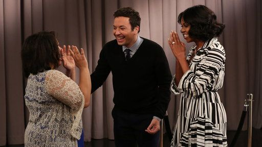 Watch The Tonight Show Starring Jimmy Fallon Season 4 Episode 65 Excerpt Free Online - Michelle Obama Surprises People Recording Goodbye Messages to Her | Yahoo View