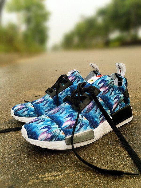 Adidas NMD Custom Blue Runing Shoes