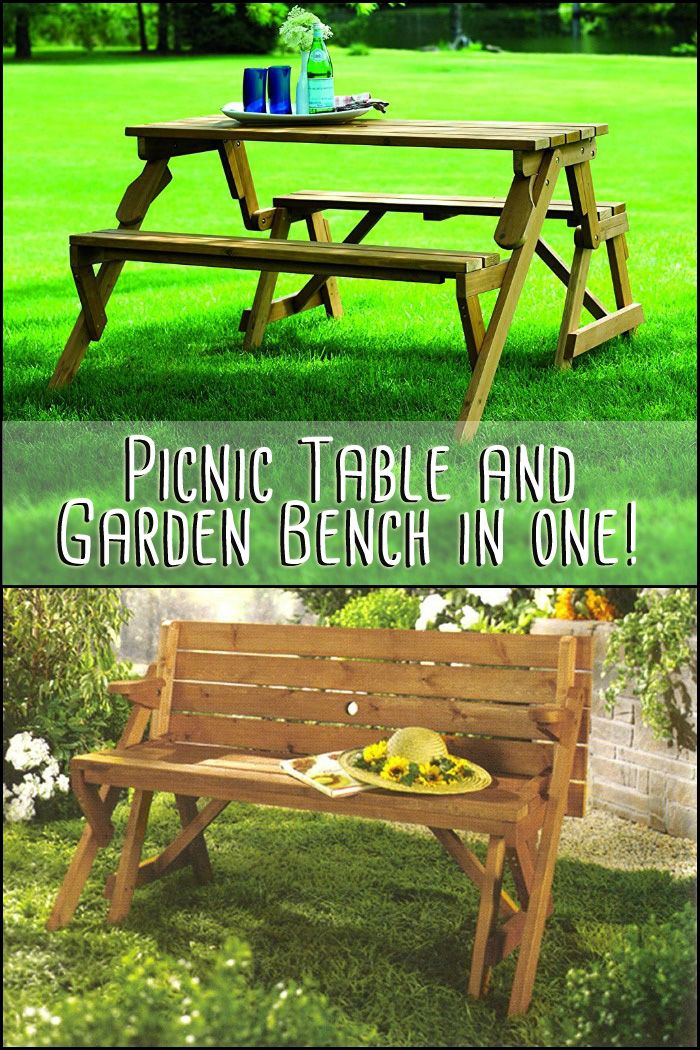 Get the best of both worlds with this interchangeable picnic table and  garden bench. 308 best Furniture Ideas images on Pinterest   Furniture ideas