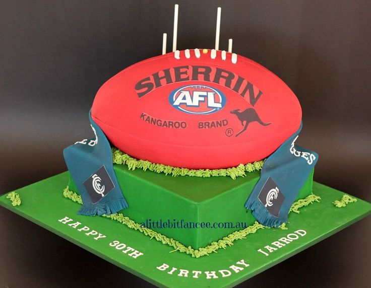 8 best Carlton footy cakes images on Pinterest Football cakes