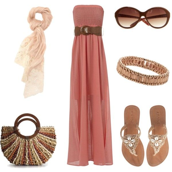 Belted Maxi Dress :): Maxi Dresses, Beaches, Gift, Color, Clothing, Outfit, Polyvore Awesome, Fashion Mi Style, Polyvore Fashion