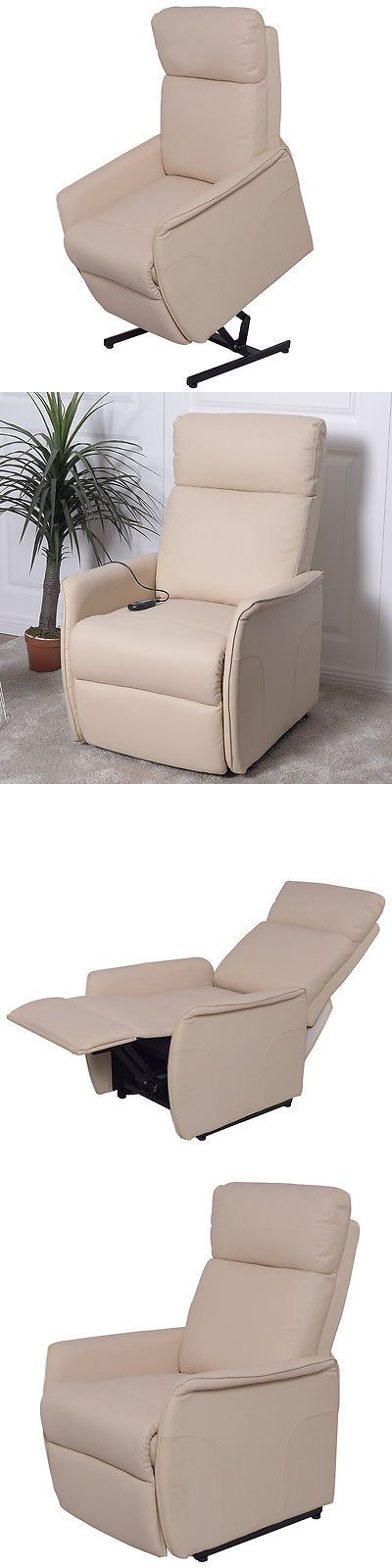 Stairlifts and Elevators: Electric Power Lift Chair Recliner Sofa Pu Leather Padded Seat Living Room Beige -> BUY IT NOW ONLY: $259.99 on eBay!