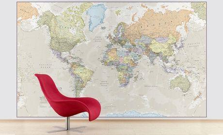 Mappa del mondo gigante