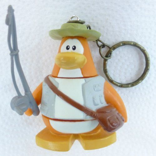 Key Chain - Clip On - SPECIAL - Club Penguin FISHERMAN 2 Vinyl Mini Figure - Also GREAT Christmas Or @ niftywarehouse.com #NiftyWarehouse #Disney #DisneyMovies #Animated #Film #DisneyFilms #DisneyCartoons #Kids #Cartoons
