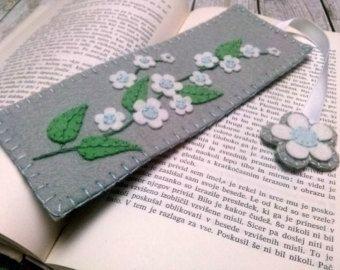 Segnalibro farfalla feltro lettore regalo Bookmark di DusiCrafts