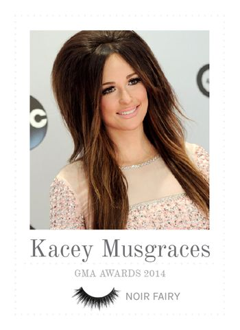 Celebrity Press | House of Lashes in Noir Fairy with Kacey Musgraves #gmaawards #noirfairylashes #kaceymusgraves