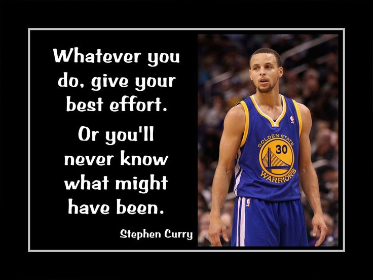 Stephen Curry Motivational Poster Basketball Wall Art