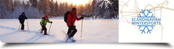 Walking trough the deep snow, Lapland in January