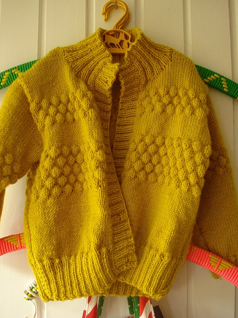 Sweater with pretty texture.