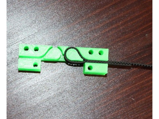 Original Anet a8 and Prusa I3 Belt are thicker,Gt2 Belt is thinner...and this Belt holder is for Gt2 belt 1.3-1.4mm