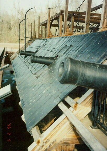 USS Cairo a Civil War gunboat. Vicksburg Mississippi