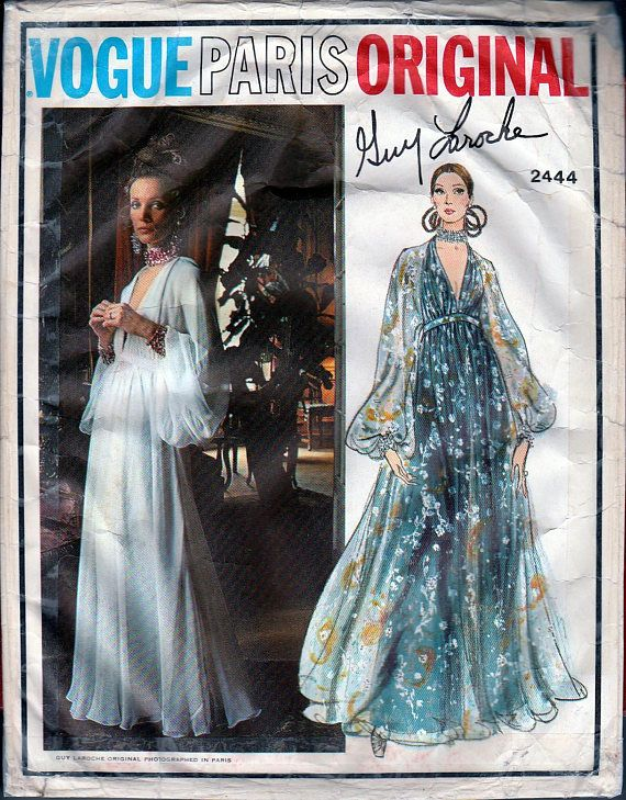Vogue Patterns 1970s Vintage Vogue 2444 Paris Original Pattern