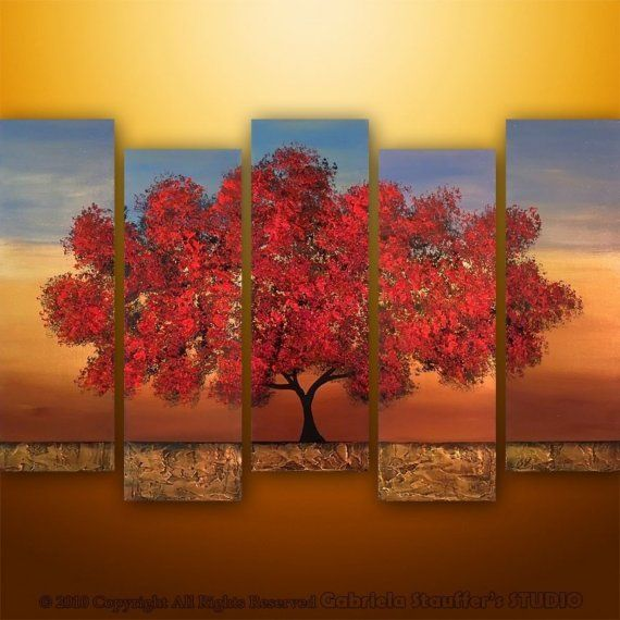 Beautiful multi canvas painting paintings pinterest for What is canvas painting