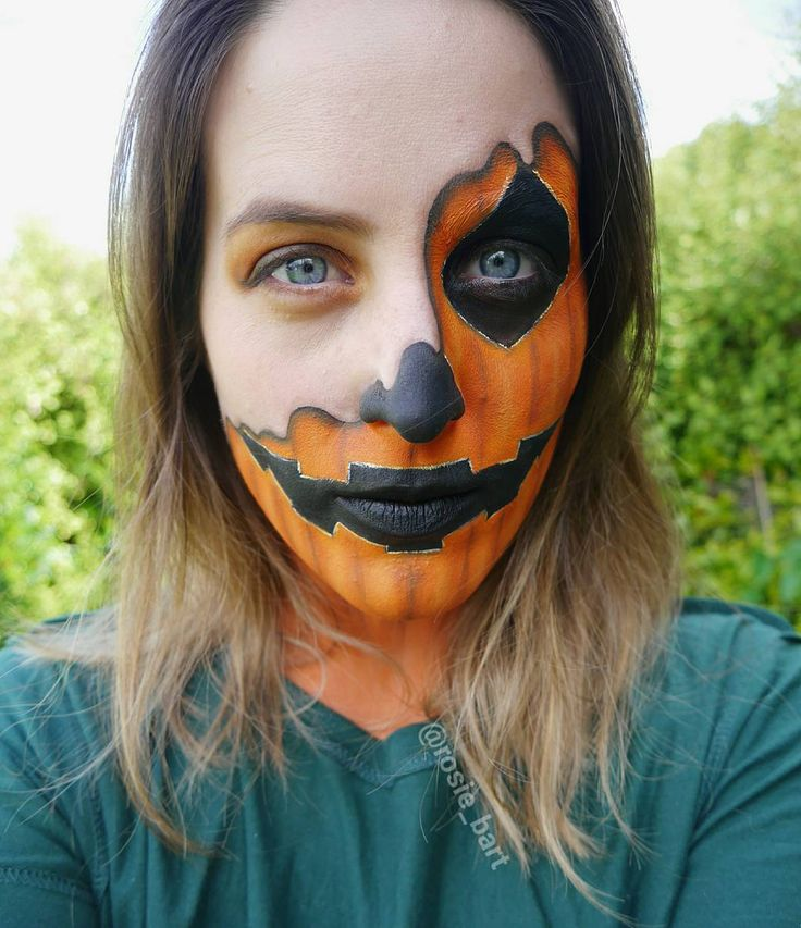 🎃😄🎃 (@rosie_bart) on Instagram #pumpkin #melting #halloween #facepaint #cosplay