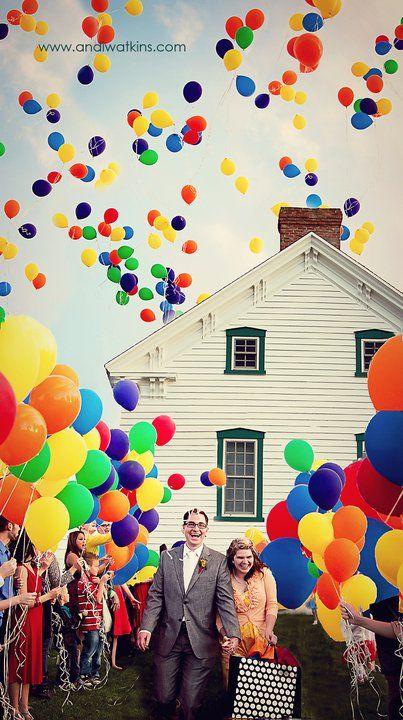 balloon send off.
