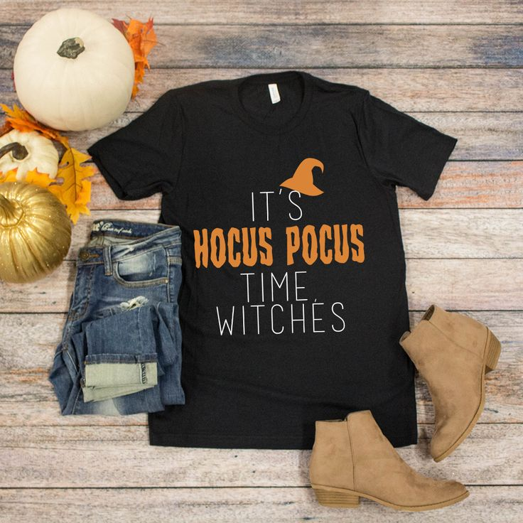 It's Hocus Pocus Time Witches Graphic Tee - The Pink Lily