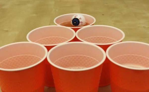 Halloween Drinking Games - draw eyeball on ping pong balls