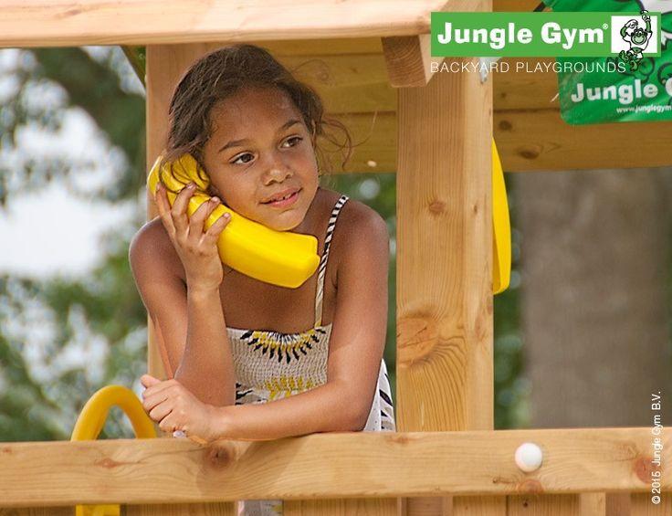 Yellow Fun Phone for your Jungle Gym climbing frame #PinToPlay