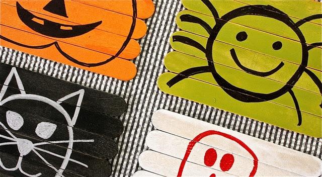DIY reversible puzzle craft: Halloween Puzzles, Diy Reverse, Reverse Halloween, Sticks Puzzles, Halloween Crafts, Puzzles Crafts, Reverse Puzzles, Popsicles Sticks, Crafts Sticks