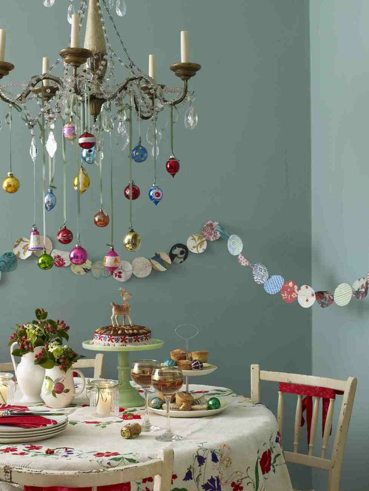 1000 ideas about christmas chandelier on pinterest for Christmas chandelier decorations ideas