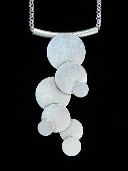 Susan Snyder Jewelry, Falling Water Necklace, Sterling Silver - Modern Jewelry