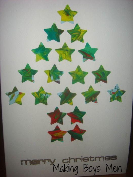 Making Boys Men: Using Kids Art for Christmas Cards