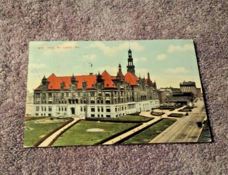 Postcard Mo St Louis City Hall Red Roof Dirt Roads Towers all Around Dated 1911
