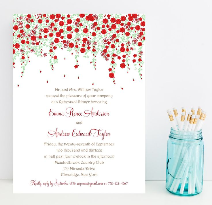 2612 best Rehearsal Dinner Invitations images on Pinterest - dinner invitation sample
