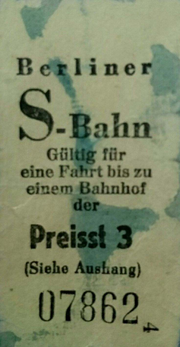 Alte Fahrkarte für die Berliner S-Bahn