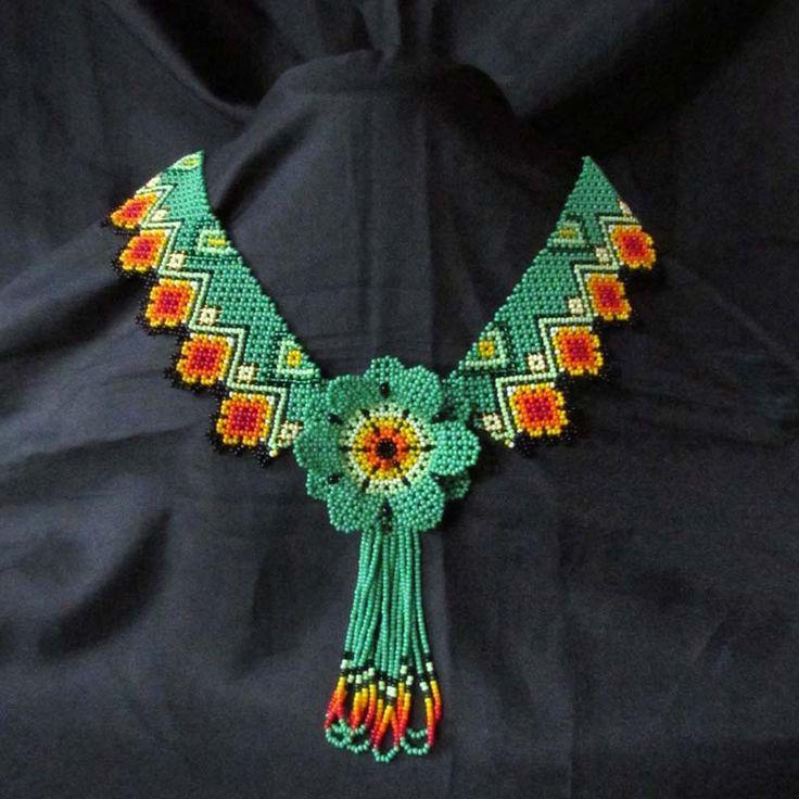 Collares : Collar Flor Flecos