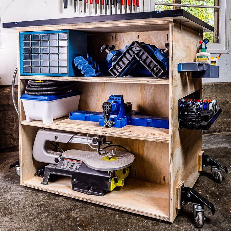 DIY Workbench with Storage